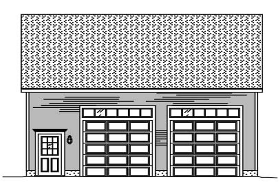 This is a black and white rendering of these garage plans.