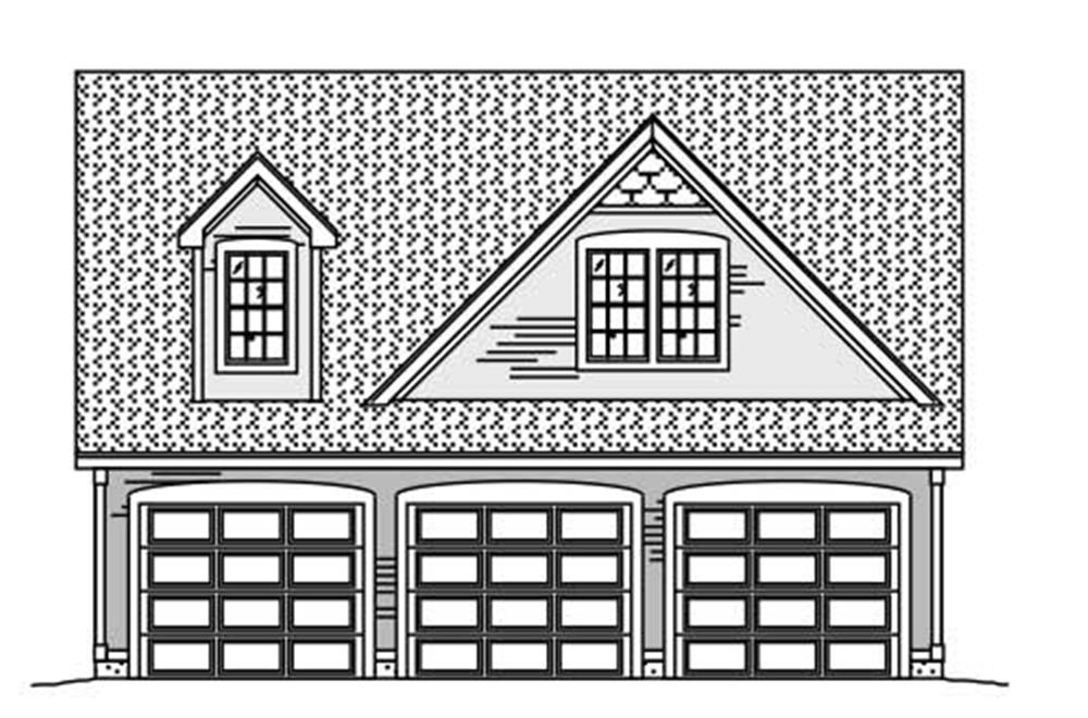 Rendering of Garage plan (ThePlanCollection: House Plan #110-1138)