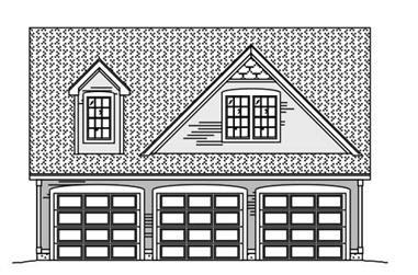 0-Bedroom, 795 Sq Ft Garage Home Plan - 110-1138 - Main Exterior