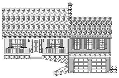 3-Bedroom, 1812 Sq Ft Cape Cod Home Plan - 110-1140 - Main Exterior