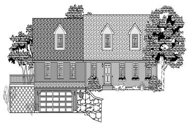 3-Bedroom, 2538 Sq Ft Country House Plan - 110-1142 - Front Exterior