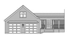 This is a front elevation of these garage plans.