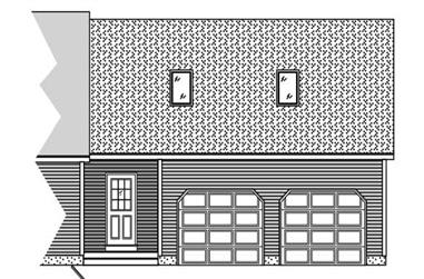 This is a drawing of the front of these garage plans.