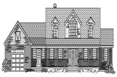 3-Bedroom, 3505 Sq Ft Cape Cod House Plan - 110-1147 - Front Exterior