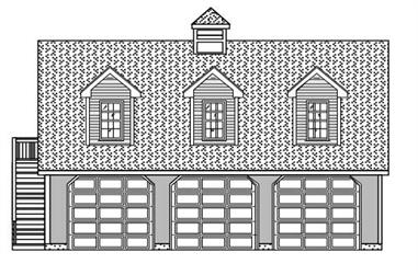 This set of Garage plans has a front elevation -- here it is!