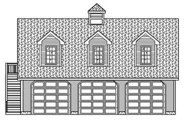 0-Bedroom, 851 Sq Ft Garage Home Plan - 110-1152 - Main Exterior