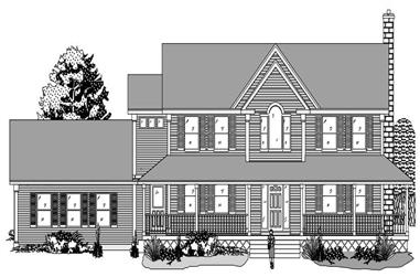 3-Bedroom, 2835 Sq Ft Country House Plan - 110-1153 - Front Exterior