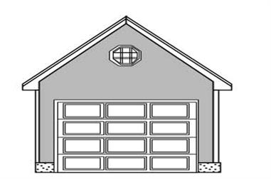 0-Bedroom, 140 Sq Ft Garage Home Plan - 110-1159 - Main Exterior