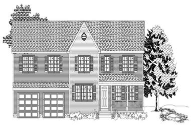 3-Bedroom, 1648 Sq Ft Country House Plan - 110-1162 - Front Exterior