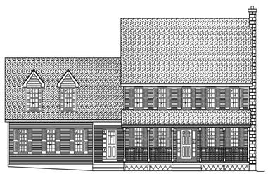 4-Bedroom, 2941 Sq Ft Country Home Plan - 110-1164 - Main Exterior