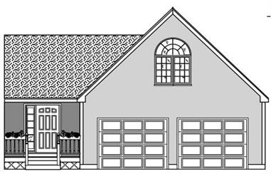 0-Bedroom, 396 Sq Ft Garage Home Plan - 110-1166 - Main Exterior