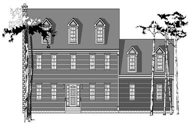 3-Bedroom, 2290 Sq Ft Colonial House Plan - 110-1168 - Front Exterior