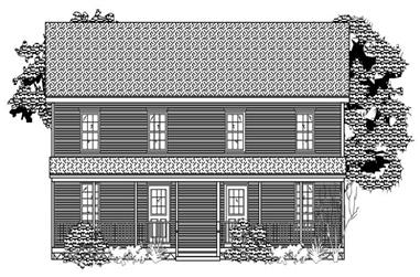 2-Bedroom, 2094 Sq Ft Colonial House Plan - 110-1169 - Front Exterior