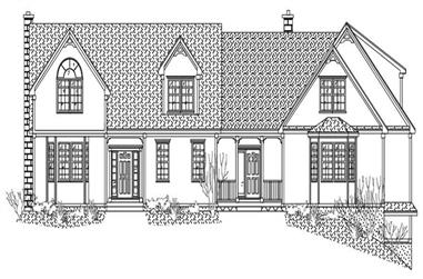3-Bedroom, 3809 Sq Ft Country House Plan - 110-1170 - Front Exterior