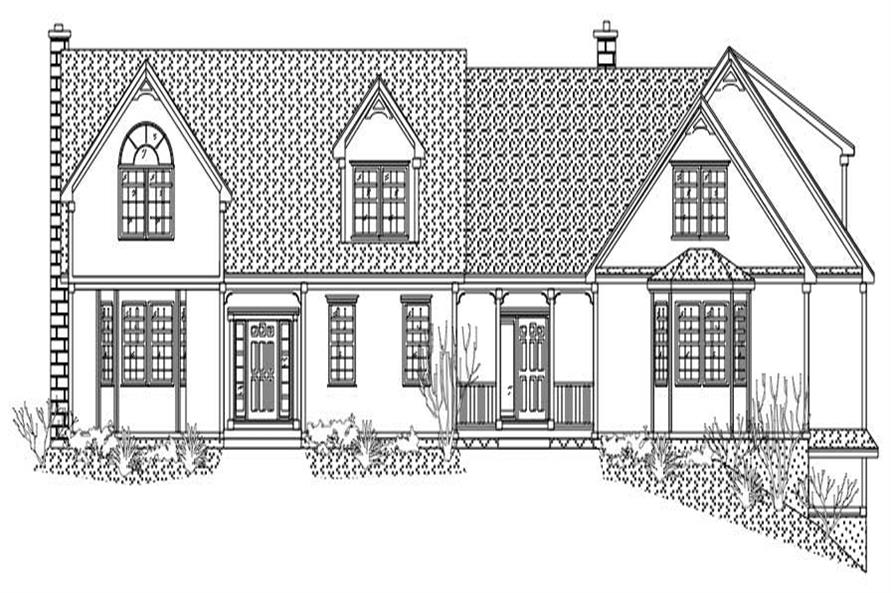 This is the front elevation for these European Homeplans.