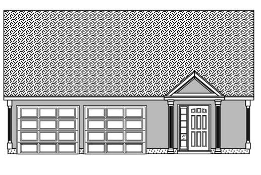 This is a black and white rendering of these Garage Plans
