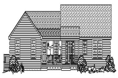 3-Bedroom, 3471 Sq Ft Country House Plan - 110-1172 - Front Exterior