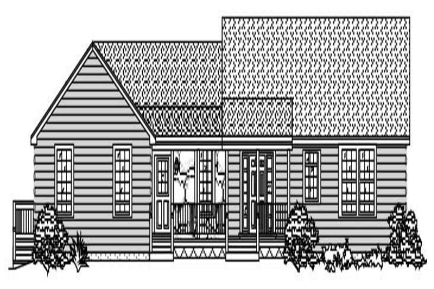 This is a black and white rendering of these Ranch Homeplans.