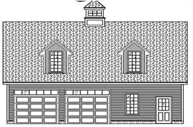 0-Bedroom, 525 Sq Ft Garage House Plan - 110-1176 - Front Exterior