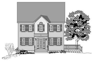 3-Bedroom, 2338 Sq Ft Colonial House Plan - 110-1178 - Front Exterior