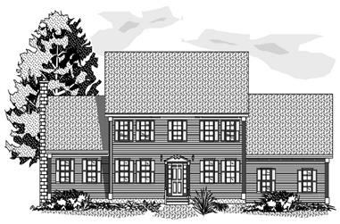 3-Bedroom, 2147 Sq Ft Colonial Home Plan - 110-1179 - Main Exterior