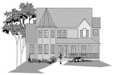 4-Bedroom, 2777 Sq Ft Country Home Plan - 110-1181 - Main Exterior