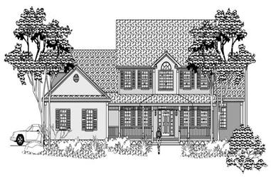 4-Bedroom, 3461 Sq Ft Cape Cod House Plan - 110-1183 - Front Exterior