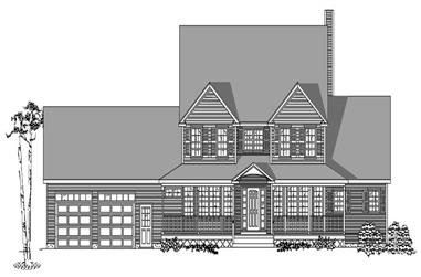 3-Bedroom, 3246 Sq Ft Country House Plan - 110-1184 - Front Exterior