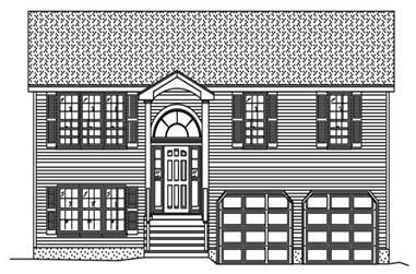 3-Bedroom, 1777 Sq Ft Multi-Level Home Plan - 110-1185 - Main Exterior