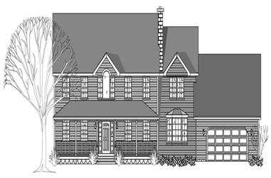 4-Bedroom, 2967 Sq Ft Country House Plan - 110-1186 - Front Exterior