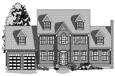 3-Bedroom, 2209 Sq Ft Cape Cod House Plan - 110-1187 - Front Exterior