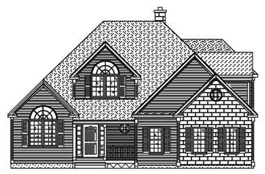 4-Bedroom, 2536 Sq Ft European House Plan - 110-1189 - Front Exterior