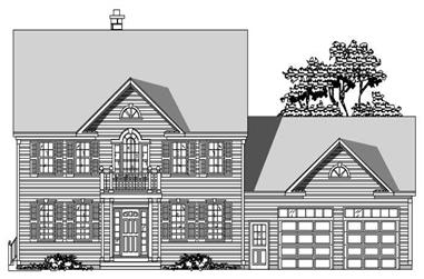 3-Bedroom, 2507 Sq Ft Country House Plan - 110-1192 - Front Exterior