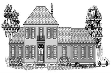 3-Bedroom, 3007 Sq Ft European House Plan - 110-1193 - Front Exterior