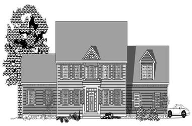 4-Bedroom, 3202 Sq Ft Colonial House Plan - 110-1194 - Front Exterior