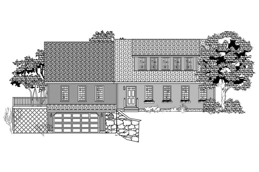 This is the front elevation of these Homeplans.