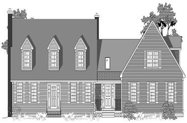 3-Bedroom, 2649 Sq Ft Cape Cod Home Plan - 110-1199 - Main Exterior