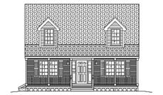 This is the front elevation for Country Home Plans 4-1945
