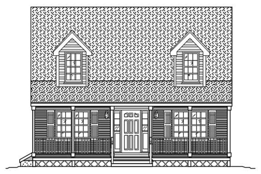 3-Bedroom, 1216 Sq Ft Cape Cod House Plan - 110-1201 - Front Exterior