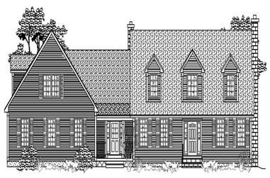 3-Bedroom, 2873 Sq Ft Cape Cod House Plan - 110-1206 - Front Exterior