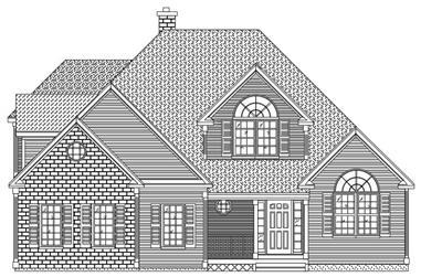 3-Bedroom, 2395 Sq Ft European Home Plan - 110-1207 - Main Exterior
