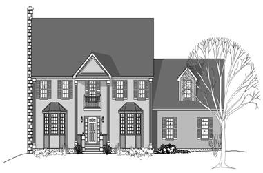4-Bedroom, 2969 Sq Ft Colonial House Plan - 110-1208 - Front Exterior