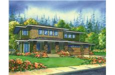 This is a colored renderign of the Wheatland Prairie Home Plans.