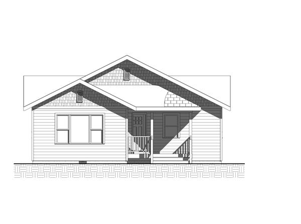 Home Plan Front Elevation for bungalow home plans BL-1035
