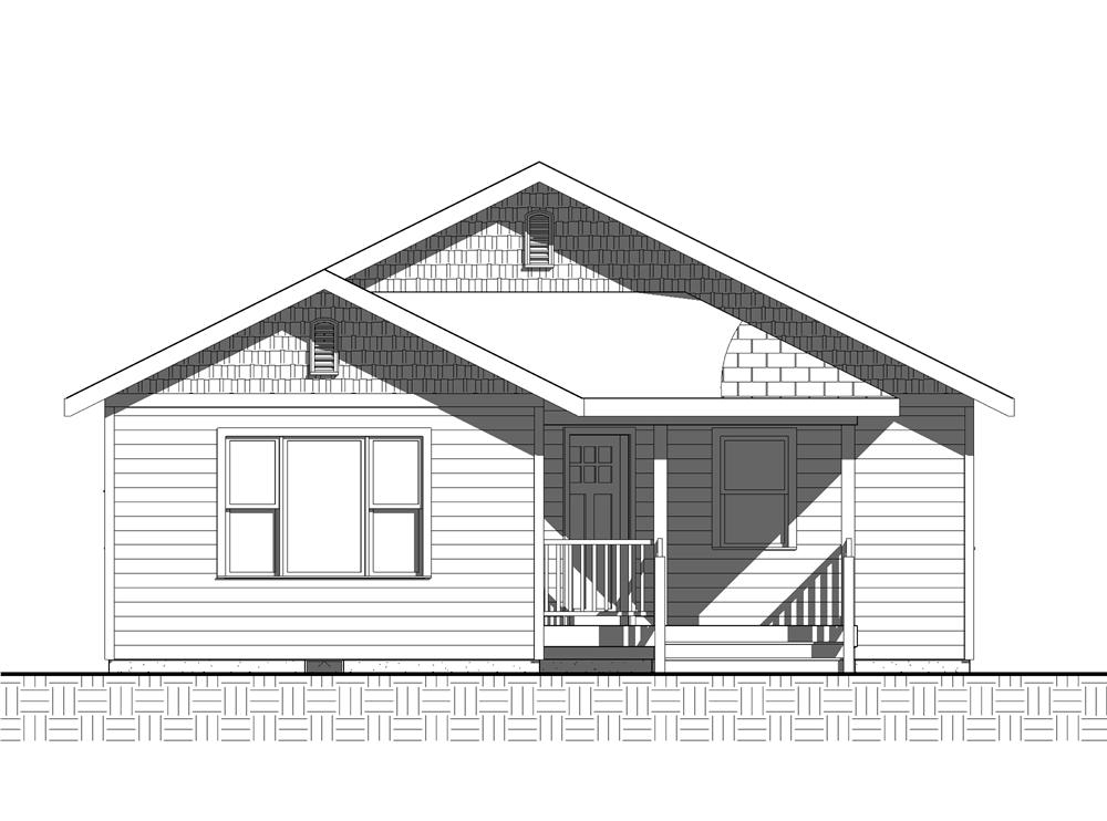 Home Plan Front Elevation for bungalow house plans Cannon Hill