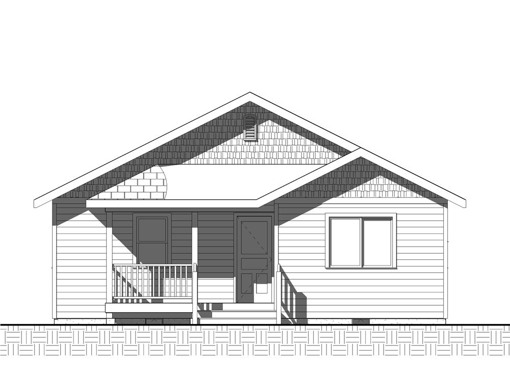 Home Plan Rear Elevation for bungalow home plans Cannon Hill