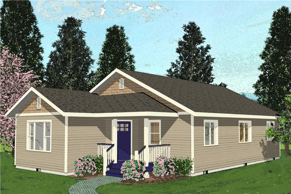 Main Image for bungalow house plans BLHD-1035