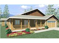 This is a computer rendering of Bungalow Home Plans