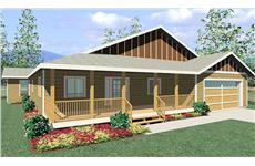 "This is a computer rendering of Bungalow Home Plans ""Glen Willow."""