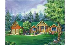 This is a colored image of the craftman Home Plans